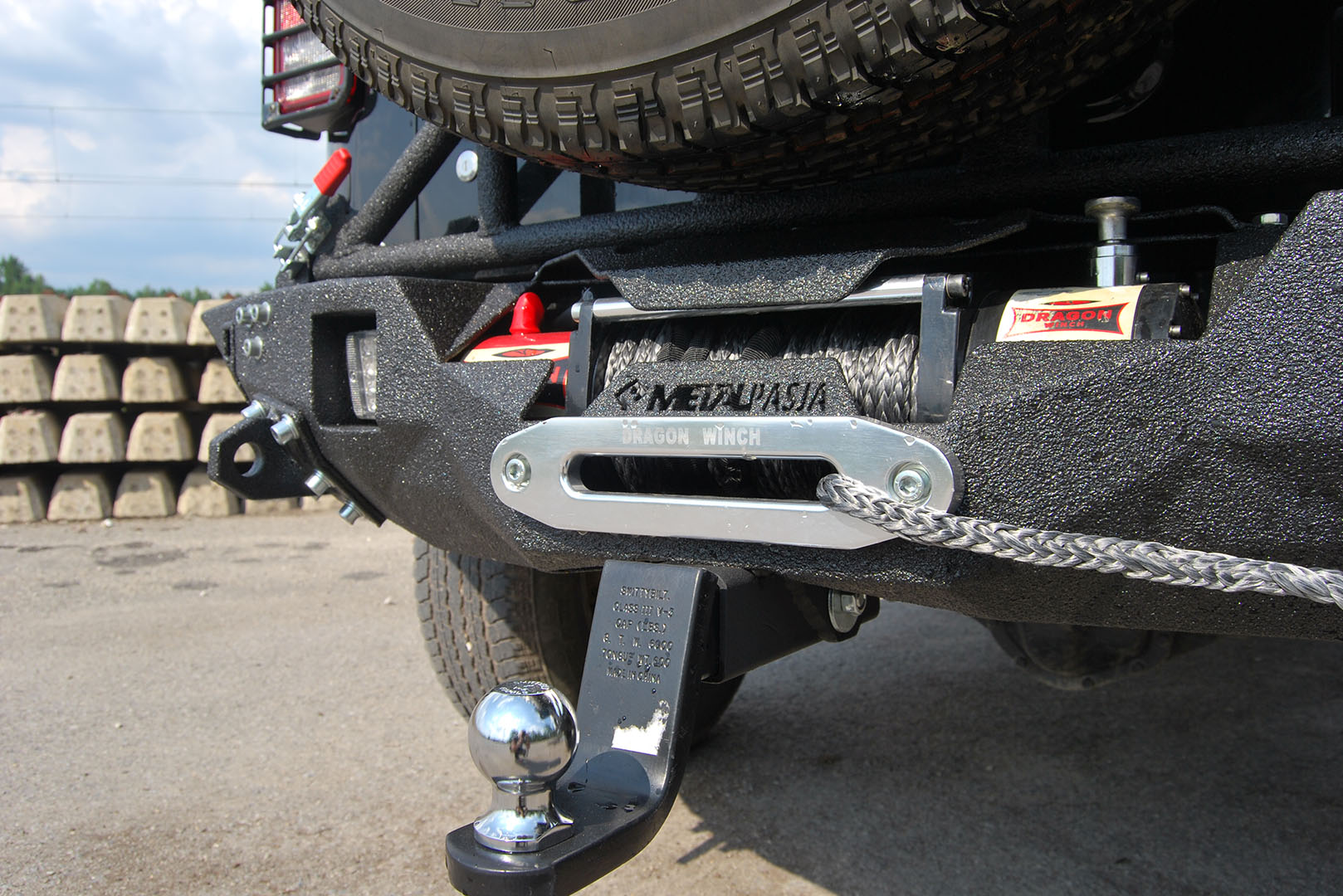 Zderzak tylny Black Diamond Jeep Wrangler JK